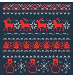 Christmas Pixel Background Scandinavian vector image