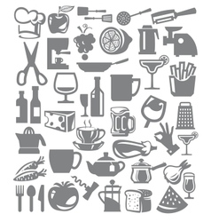 kitchen icon vector image vector image
