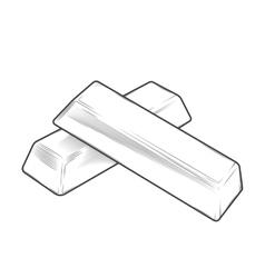 Metal bars vector image vector image