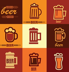 beer icons set vector image