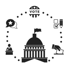 Election Infographic icon set vector image