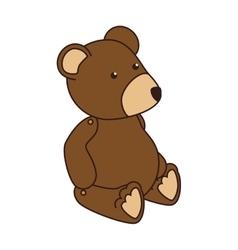 teddy bear kid icon vector image vector image