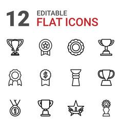 12 reward icons vector
