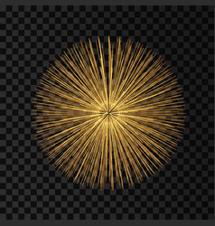 3d abstract sphere array with dynamic particles vector image