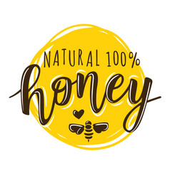 A natural honey lettering vector