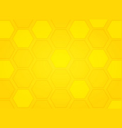 abstract modern yellow bee hive pattern hexagon vector image