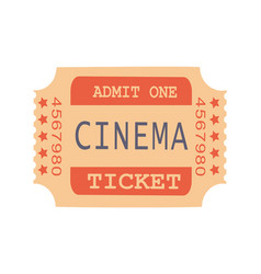Admit one cinema ticket sample vector