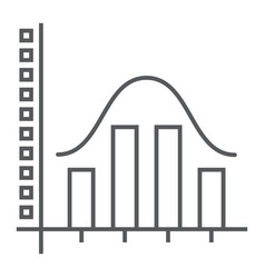 Average thin line icon data and analytics vector