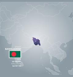 Bangladesh information map vector