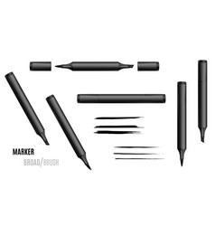 Black marker double-sided vector