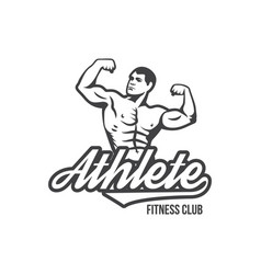 bodybuilding powerlifting kettlebell workout vector image