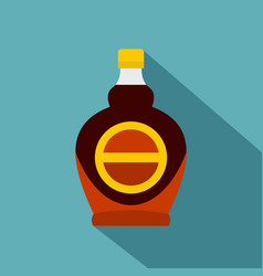 Bottle of maple syrup icon flat style vector