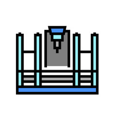 Butt welding machine color icon vector