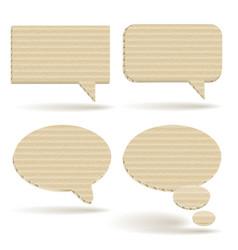Cardboard talk balloons vector