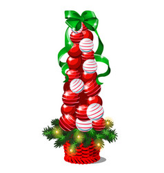 cartoon topiary in the form of a cone christmas vector image