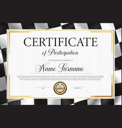 Certificate participation diploma template vector