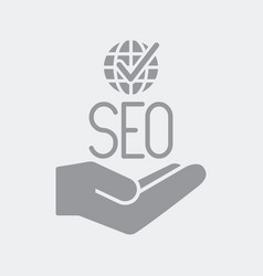 check for worldwide seo services vector image