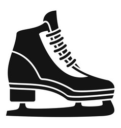 classic ice skate icon simple style vector image