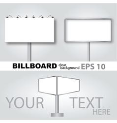 Clear billboard background vector