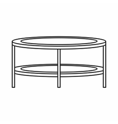 Coffee table icon in outline style vector image