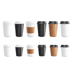 coffee to go mockup set vector image