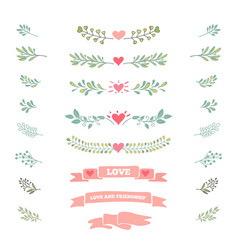 Collection vintage elements vector