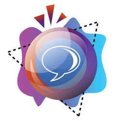 colorful bubble and shapes with google talk sign vector image