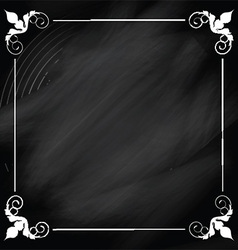 Decorative chalkboard background vector image vector image