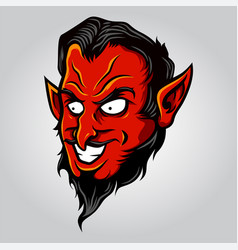 devil demon head in cartoon style vector image