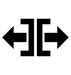Divide Horizontal Direction Flat Icon vector