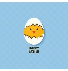 easter chicken egg concept background vector image