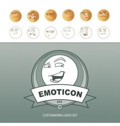 Emoticons customizing vector