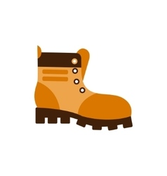 Enduring Leather Boot Camping And Hiking Outdoor vector image