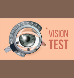 eye test banner vision correction vector image