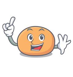 Finger mochi mascot cartoon style vector