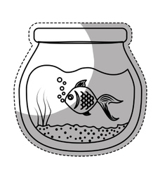 Fish bowl icon vector