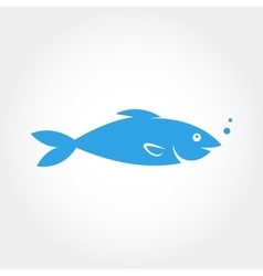 Fish icon elements for design vector