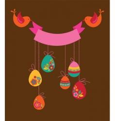 Floral Easter banner vector