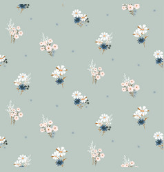 flowers vintage colors seamless pattern vector image