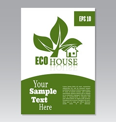 Flyer or cover design green house Brochure or vector