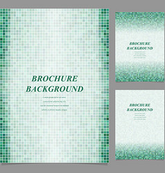 Geometric square pixel page template set vector
