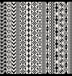Geometrical ethnic motifs background vector