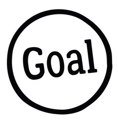 Goal stamp label vector