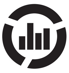 graphical business report icon vector image
