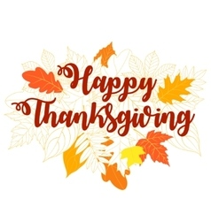 happy thanksgiving day 5 vector image
