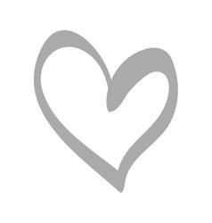 Heart scribble draw vector image