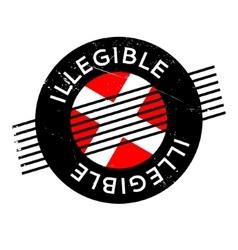 Illegible rubber stamp vector