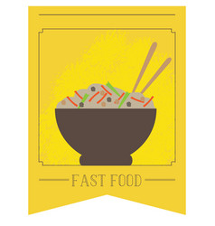 Isolated bowl of food vector