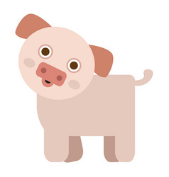 Isolated cute pig vector