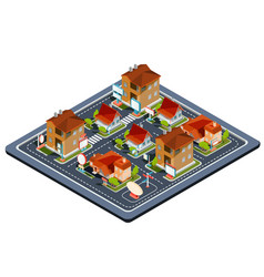 Isometric residential quarter vector